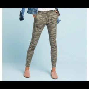 NWT Anthropologie Hei Hei Slim Utility Pants Camo